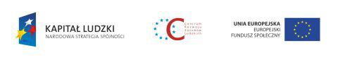 Logo kapitału ludzkiego oraz Unii Europejskiej
