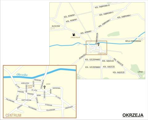 Mapa Okrzei